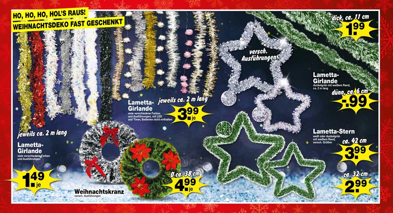 Zum Feste nur das Beste. Ein riesen Posten Weihnachtsdeko eingetroffen, alles fast geschenkt!